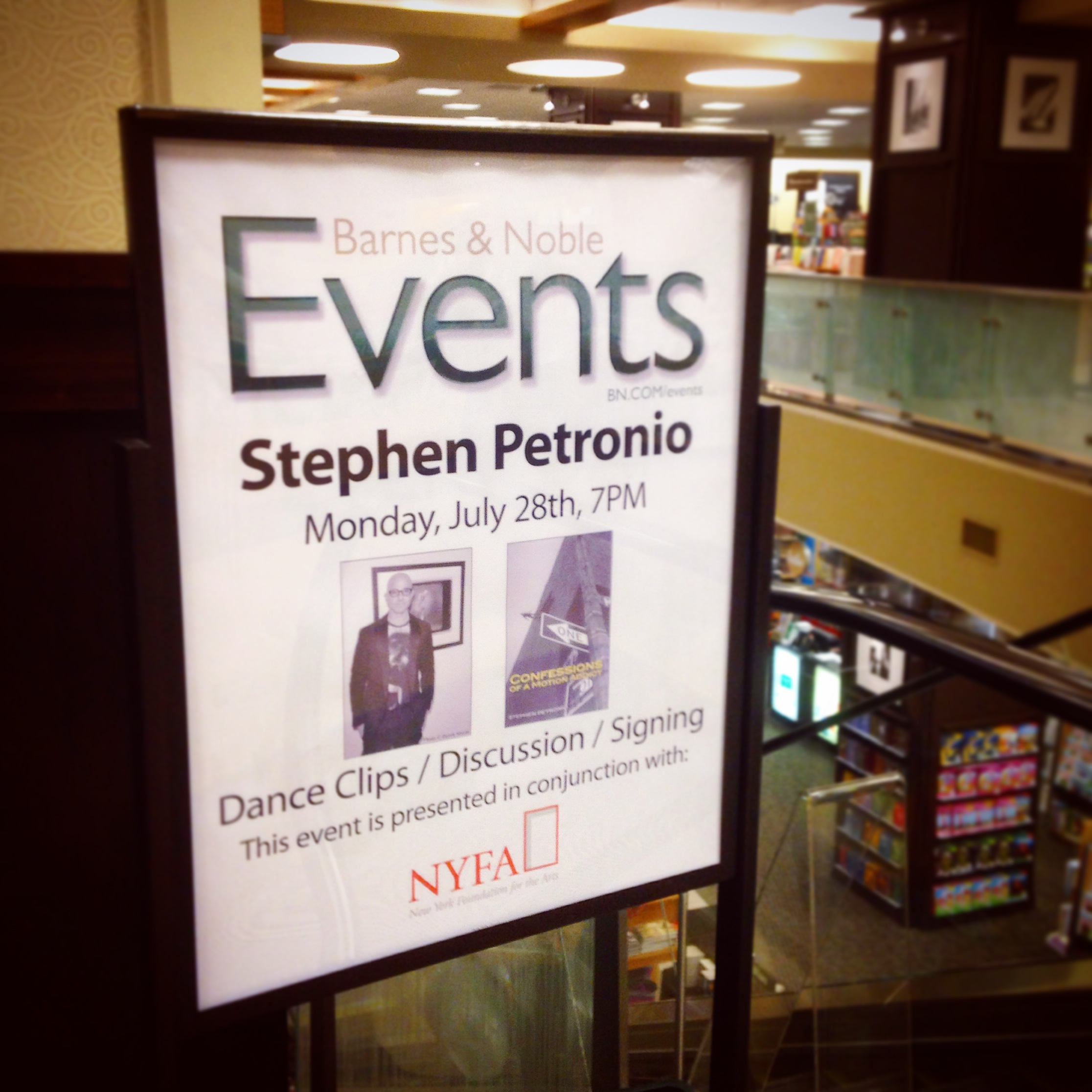 Stephen Petronio Signing at Barnes & Noble
